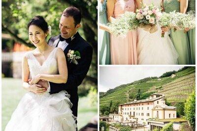 Die internationale Traumhochzeit von Gianna und Gianni in Italien