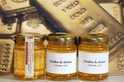 Des cadeaux d'invités éthiques et gourmands,  laissez-vous charmer par ces petits pots de miel personnalisables