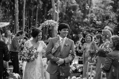 Casamento de Mariana e Thiago: ao ar livre, no dia de Santo Antônio e com direito a samba da Portela