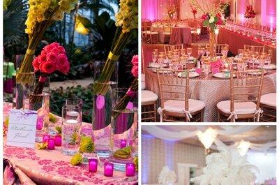Romantisch und märchenhaft: Hochzeitsdekoration in Rosa