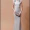 Vestido de novia silueta columna en color gris con mangas cortas voluminosas para Pre Fall 2014 - Foto Badgley Mischka