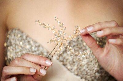 Glamouröse Accessoires in Silber für Hochzeitsgäste