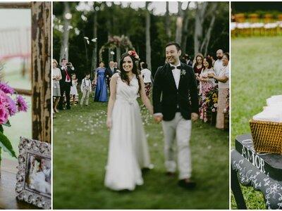 Casamento ao ar livre de Deborah & André: como no jardim de casa!