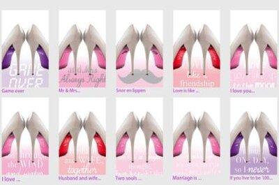 Coole stickers voor je trouwschoenen