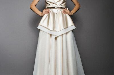 Vestidos de noiva 2015 com peplum: modelos versáteis que afinam a cintura!