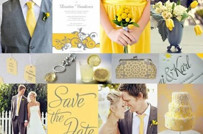 Hot color combo: Yellow and gray