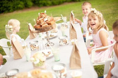 Tomá nota: Cómo entretener a los chicos en la boda
