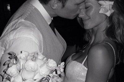 Gisele Bündchen comparte la primera (y única) foto de su vestido de novia