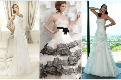 Minimal o appariscente, l'importante è che l'abito da sposa sia drappeggiato! Ecco i preferiti di Zankyou