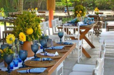 Casamento na praia ou no campo: saiba a quantidade ideal de flores