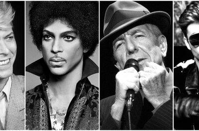 Cuatro grandes artistas que se fueron en el 2016. ¡Una playlist con sus mayores éxitos en la música!