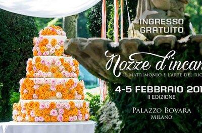 4 e 5 febbraio 2017, Nozze d'incanto: bon ton, raffinatezza e novità in arrivo a Milano