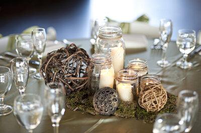 Centros de mesa sem flores conquistam casamentos modernos e originais