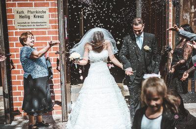 Reis werfen auf der Hochzeit - eine alte Tradition