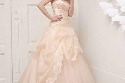 Vestidos de noiva rosa de Aimèe Montenapoleone coleção 2013