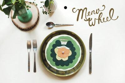 10 ideas para decorar con la presentación del menú de boda
