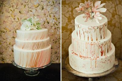 Pasteles elegantes para boda