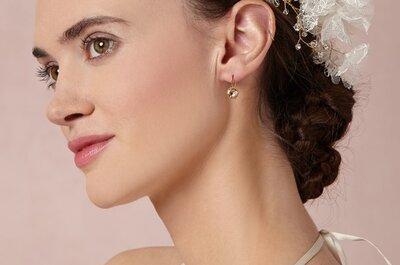 Peinado con glamour: Flores y sombreros en tendencia para novia