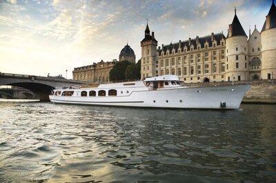 Les 10 plus belles péniches pour votre mariage à Paris