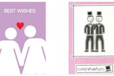 Invitaciones de boda y regalos para parejas del mismo sexo