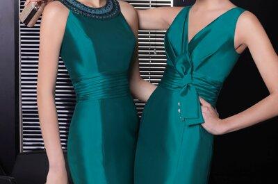 Vestidos de fiesta 2013 en color esmeralda Rosa Clará