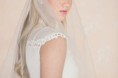 Estás a un paso de conocer las tendencias top en velos de novia 2015... ¡Inspiración al mil!