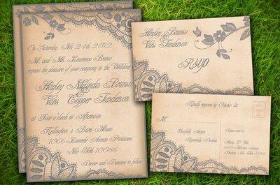 Inspiração para seu convite de casamento em tons de bege e dourado