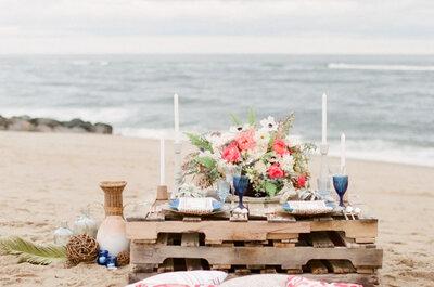 Decoración 2017 para una boda en la playa. ¡Cásate junto al mar!