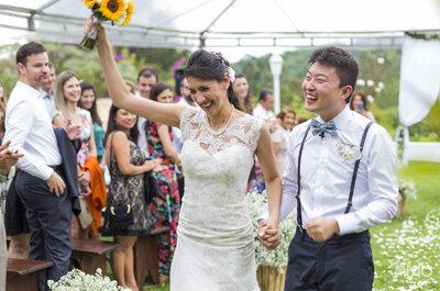 Priscilla & Winston: casamento DIVINO na fazenda com noivos mega apaixonados!