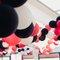 Decoración para bodas con globos de colores