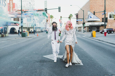 Un matrimonio en Las Vegas: descubre el estilo del rock and roll con Ainsley y Sebastien