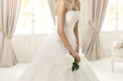 Vestidos de novia corte princesa Pronovias 2013