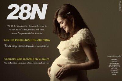Novias, mujeres y madres: Apoyamos la Ley de Fertilización Asistida