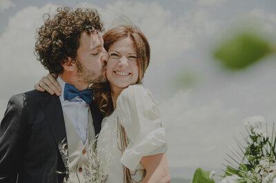 Una historia de amor marcada por el número 13: la boda de fin de semana de Jorge y Anaïs
