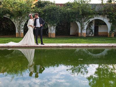 Una boda al más puro estilo andaluz: un toque flamenco-vintage para novios con arte