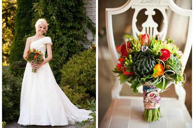 Bukiety ślubne z sukulentów: oryginalnie, kolorowo i egzotycznie