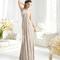 Vestido largo halter en color nude para damas de boda