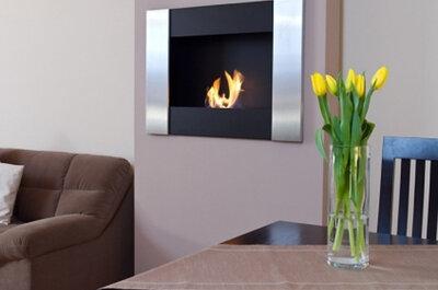 Crea un rincón romántico en casa con una chimenea gracias a Art Decó SShuo