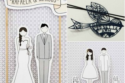 7 fornecedores de convites de casamento em Brasília que oferecem beleza, criatividade e originalidade