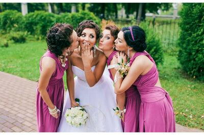 Combina tu vestido de novia con el de tus damas de honor. ¡Sé la protagonista!