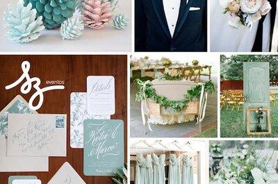 Perfect Blue: Tintes de azul y rosa palo para una boda romántica y fresca