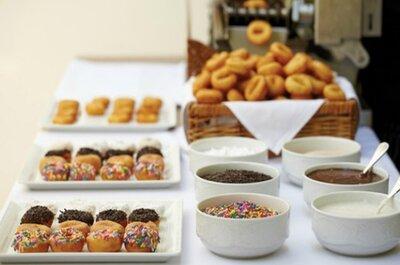 Buffet de donuts para la recena