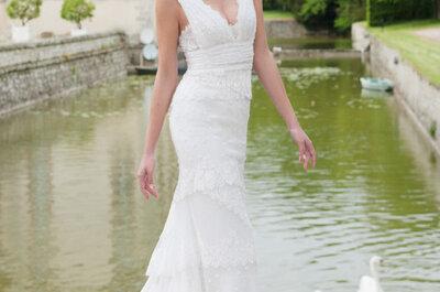 Suknie ślubne francuskiej marki Cymbeline 2014.
