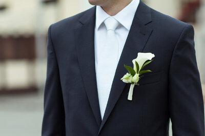 Een hippe bruidegom draagt hippe corsages! De trend van 2015