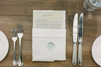 Dekoration der Tische für die Hochzeit