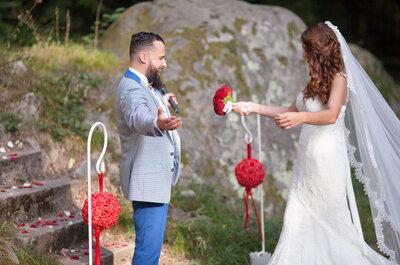 Vladimir et Prisca : un très joli mariage en rouge à Paris