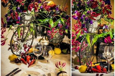 4 pomysły na dekoracje stołów na jesiennym weselu.
