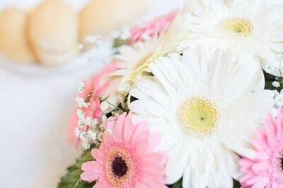 Flores de campo na decoração do seu casamento. Singelas, simples e perfeitas para o verão.
