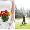Diferentes ideias de buquês de noiva com flores vermelhas. Foto: Zach Mathers