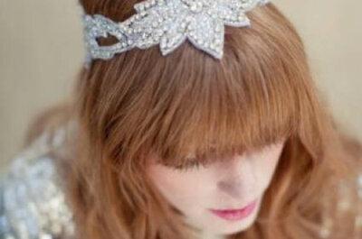 Enfeites que são verdadeiras joias para o penteado de noiva